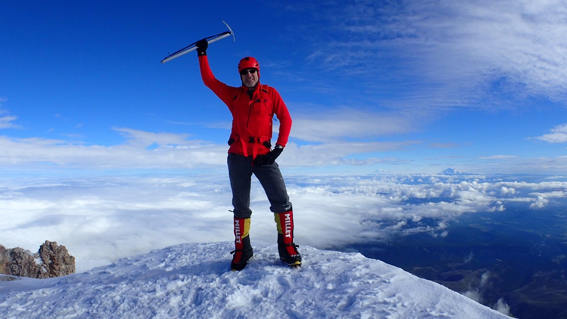 Robert Danger Byrd on summit of Mt. Hood, Oregon.